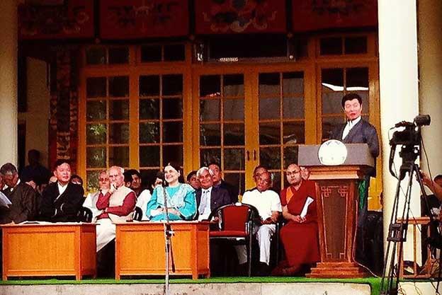 Le discours du premier ministre Lobsang