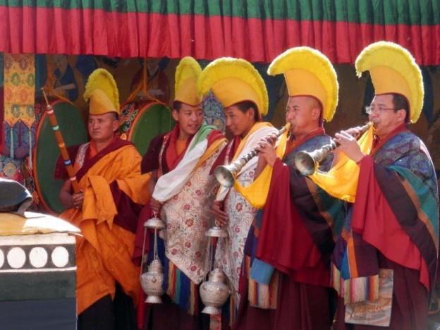 Festival de Thiksey, les moines