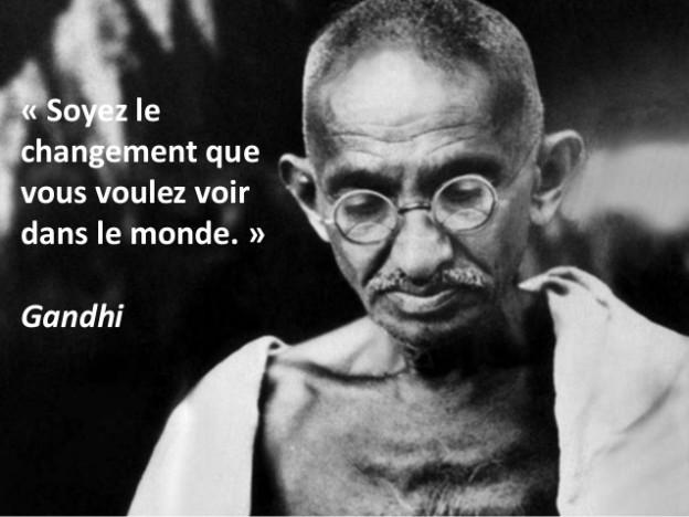 Gandhi changement monde