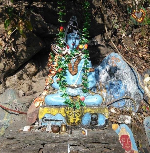 Shiva sur un rocher