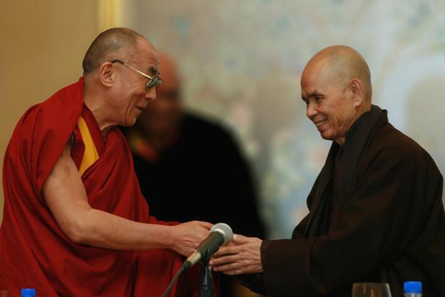 Thich Nhat Hanh et le Dalaï Lama