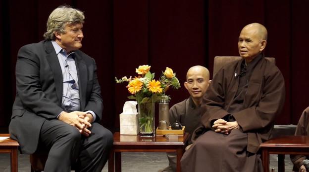 Thich Nhat Hanh lors d'une conférence sur la compassion