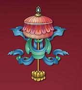 Parasol-Astamangala-8-signes-auspicieux-bouddhisme