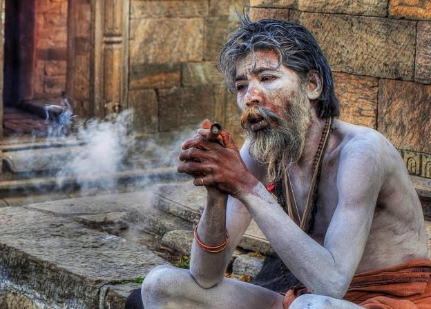 Sadhu avec un shilum