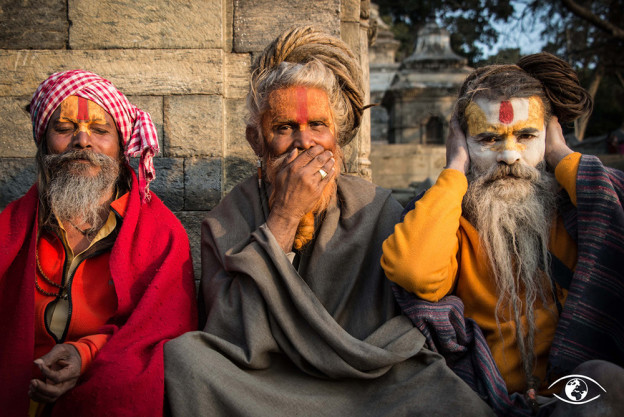 Trois sadhus